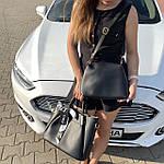 Женская сумка c косметичкой черная  (199), фото 5
