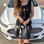 Женская сумка c косметичкой черная  (199), фото 7
