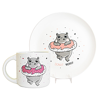 Набор «Donut Worry» (чашка + тарелка), фото 1