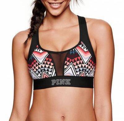 Спортивный Топ Victoria's Secret PINK Mesh Racerback XS, Черный