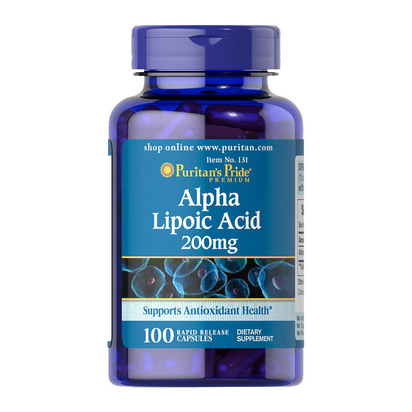 Антиоксидант Puritan's Pride Alpha Lipoic Acid 200 mg 100 caps