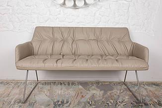 Кресло - банкетка LEON (Леон) бежевая от Niсolas, кожзам