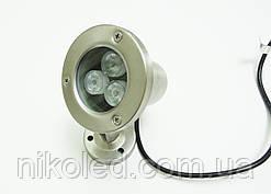 Подводный светодиодный  прожектор LED 3 Вт RGB без контроллера