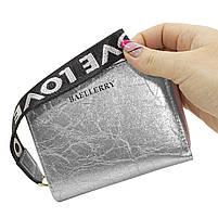 ➤Кошелек Baellerry DR022 Silver для девушек для монет отделения для карт голографический с ремешком, фото 8