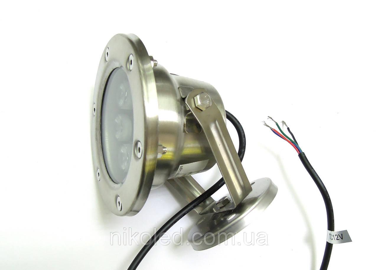 Светодиодный подводный светильник LED 6 Вт RGB без контроллера