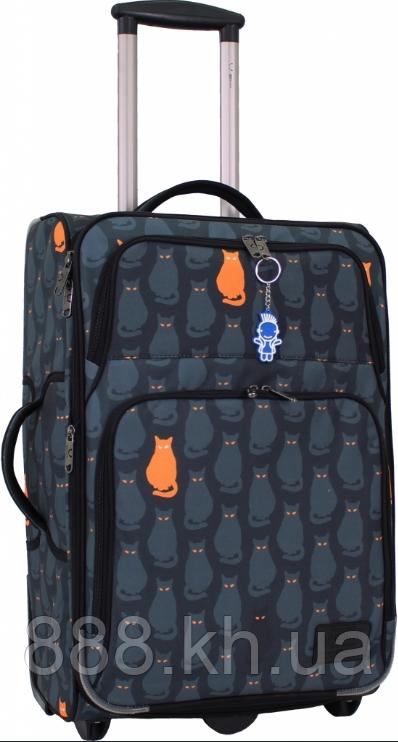 Чемодан дорожный ручная кладь Bagland Леон 51 л. средний дизайн коты, валізи