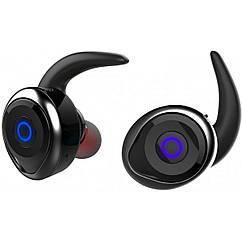 Беспроводные Bluetooth наушники Awei T1 Twins Earphones Black, черные