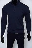 Футболка мужская с длинным рукавом Madu 5003 синяя