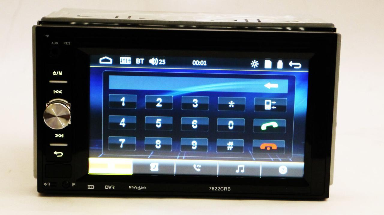 2din Pioneer 7622 Автомагнитола USB+SD+Bluetooth