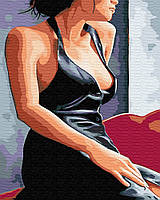 Картина по номерам Девушка у окна (BK-GX30473) 40 х 50 см Brushme (Без коробки)