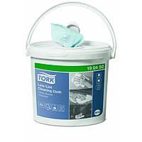Безворсовый нетканный материал для дезинфекции помещений TORK, 1 ведро + 1 рул, 60 м, 200 листов, голубой