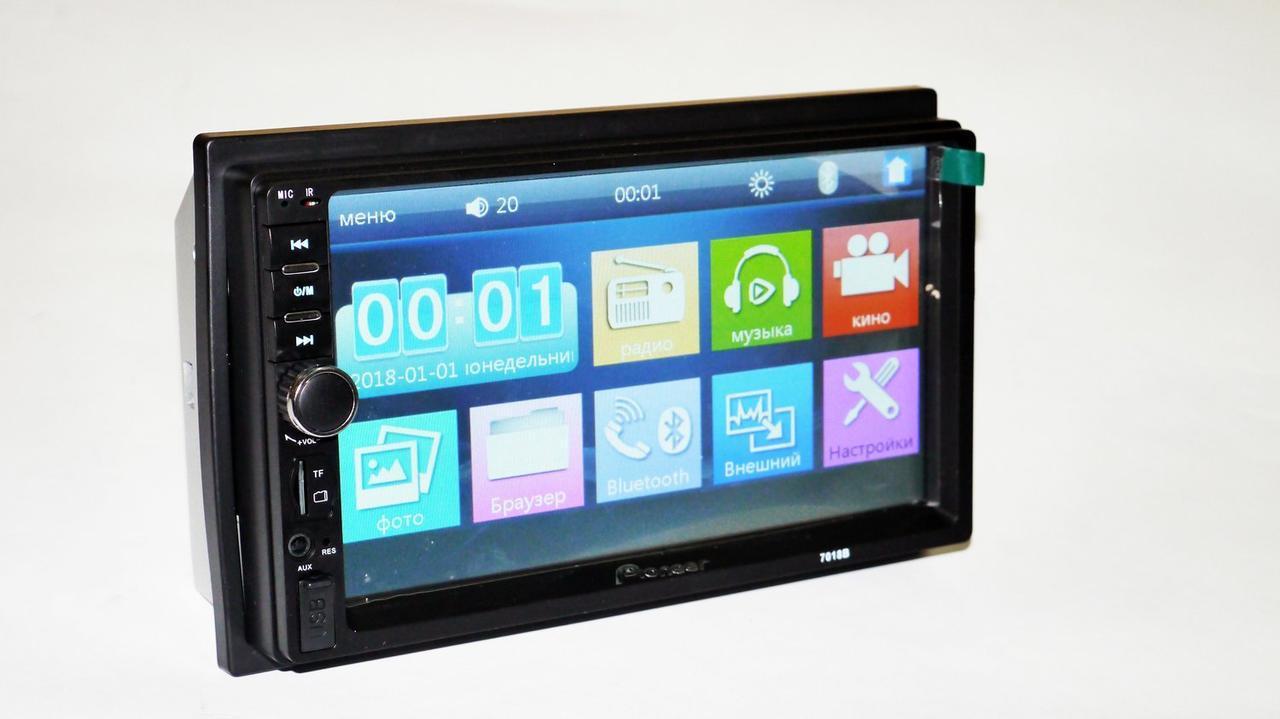 2din Магнитола Pioneer 7018 USB+SD+Bluetooth (короткая база)