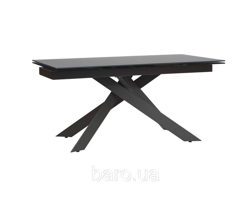 Стол обеденный стеклянный Грацио Мэт Грей серый (Gracio Matt Grey)  160-240, Concepto