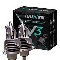 Светодиодные лампы без проводов H4 KAIXEN V3 6000K
