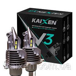 ORIGINAL! Светодиодные лампы без проводов KAIXEN H4 V3 6000K