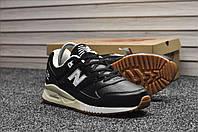 Кроссовки New Balance 530 мужские, черные, в стиле Нью Баланс. Натуральная кожа, прошиты. Код TD-8889