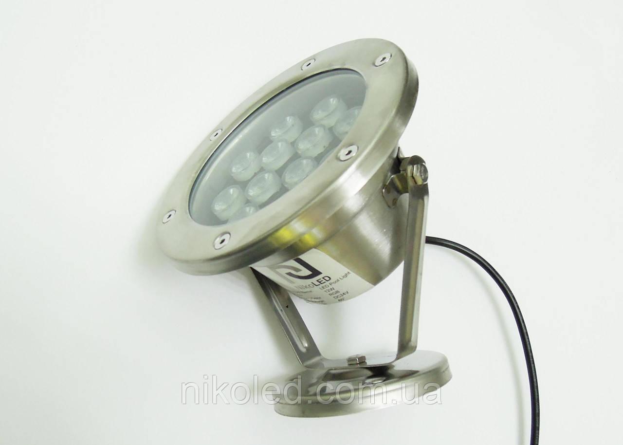 Светодиодный подводный прожектор LED 12 Вт RGB с контроллером