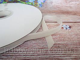 Лента бархатная, 1 см, цвет кремовый