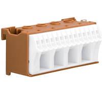 Блок фазных 18 клемм 4x16 мм2 + 14x4 мм2 Hager QiuckConnect KN18P 75мм