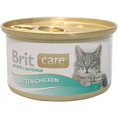 Консервы Brit Care Cat Kitten Chicken 80 г  (для котят, курица)