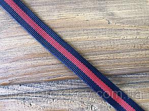 Тесьма окантовочная (Gucci) 15мм цвет красный+синий