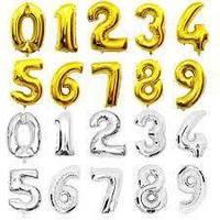 Фольгована повітряна куля цифра Agura Slim (40' 102 см )