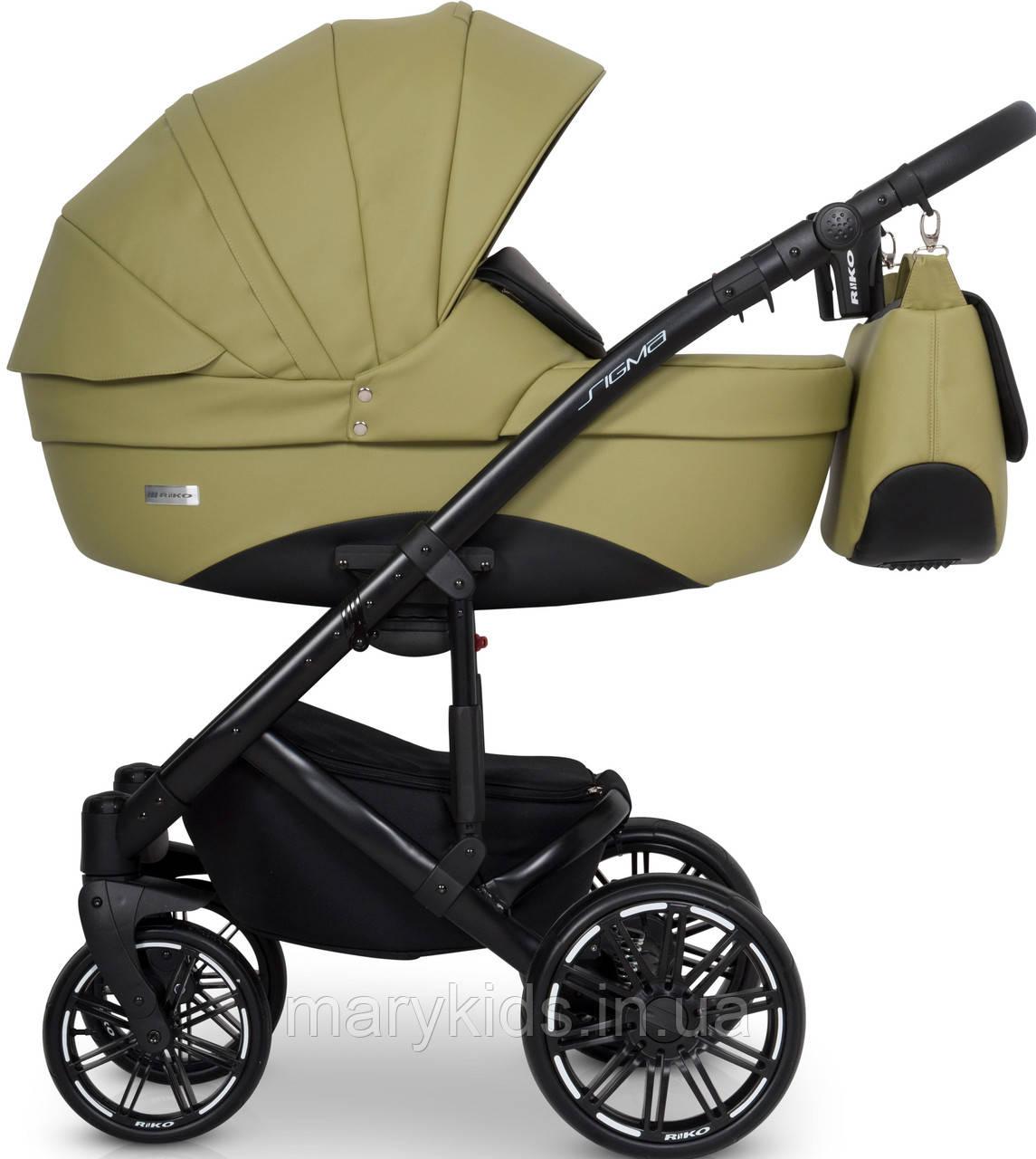 Детская универсальная коляска 2 в 1 Riko Sigma 05 Olive