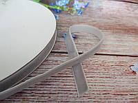 Оксамитова стрічка, 1 см, колір сірий