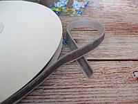 Лента бархатная, 1 см, цвет темно-серый