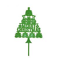 "Топпер ""Merry Christmas"" зелений"