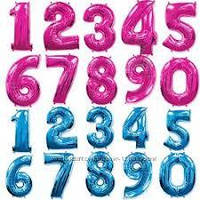 Фольговані кульки цифри 100 см кольорові