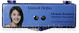 Набор металлических брекетов United Ortho Clear Series