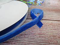 Лента бархатная, 1 см, цвет синий (электрик)