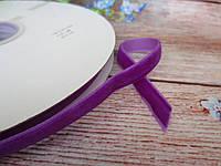 Лента бархатная, 1 см, цвет фиолетовый