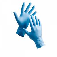 Перчатки нитриловые голубые M (100 шт.)