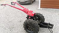 Коробка передач в сборе для тяжелого мотоблока (без электрооборудования) с колесами 6.00-12