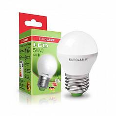 EUROLAMP LED Лампа ЕКО серія  G45 5W E27 3000K