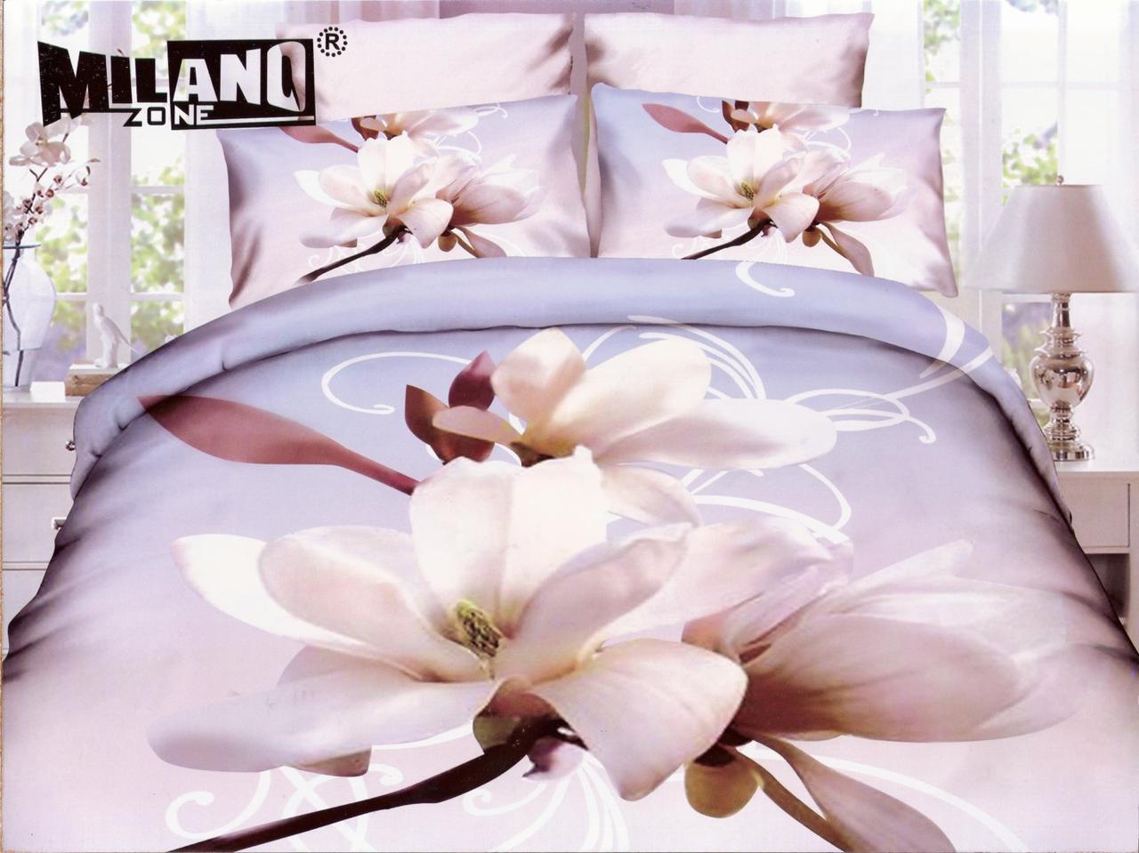 3D Постельное белье ТМ Милано рисунок красивые цветы  (Milano Zone) полуторка Польша
