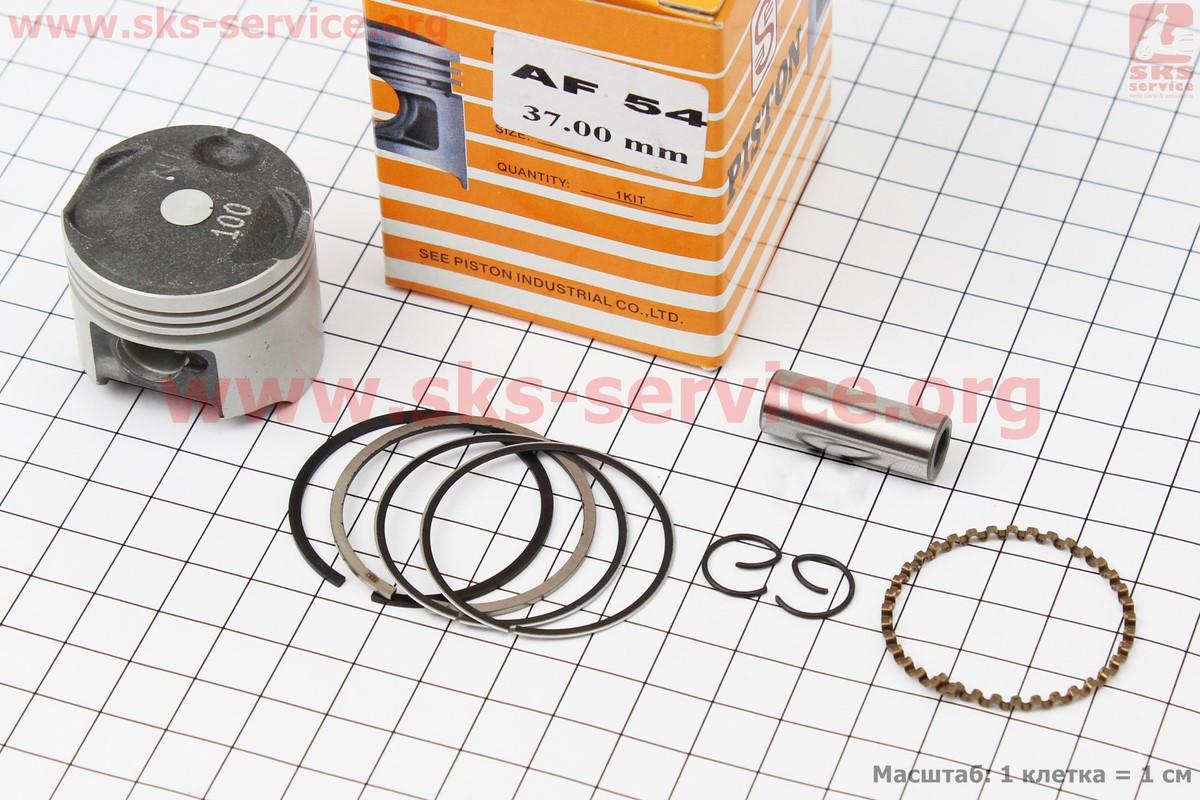 Поршень, кольца, палец к-кт Honda GIORNO CREA AF54 36мм +1,00 (палец 10мм) желтая коробка на скутер