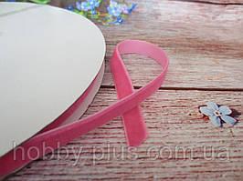 Лента бархатная, 1 см, цвет розовый