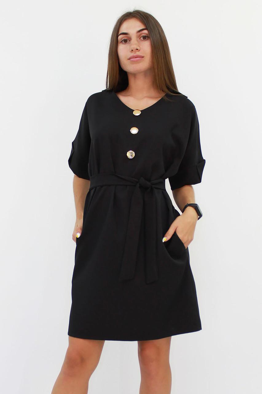 S, M, L / Жіноче вільне класичне плаття Monika, чорний