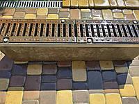 Лоток водоотводный SUPER ЛВ-11.20.27 бетонный с решеткой чугунной