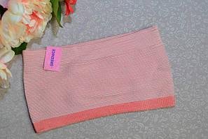 Бюстгальтер топик бандо GreeNice без бретелек  фибра  L-XL розовый  (6859)