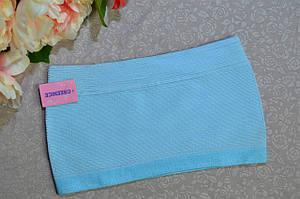 Бюстгальтер топик бандо GreeNice без бретелек  фибра  L-XL голубой  (6859)