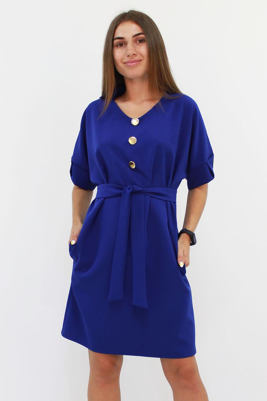 M (44-46) / Жіноче вільне класичне плаття Monika, синій