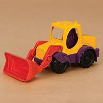 Игрушка для игры с песком - экскаватор-погрузчик (цвет манго-сливово-томатный)