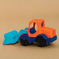 Игрушка для игры с песком - экскаватор-погрузчик (цвет морской-мандариновый-океан)