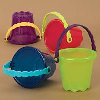 Игрушка для игры с песком и водой - мини-ведерко (цвет томатный)