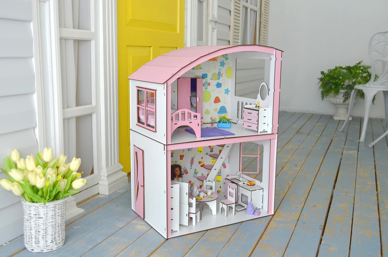 Уютная Вилла Барби с мебелью, обоями и текстилем