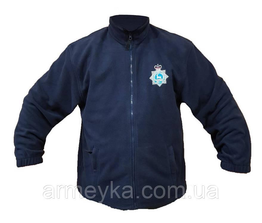 Флисовый утеплитель (кофта) темно-синий (воронье-крыло). Великобритания, оригинал.